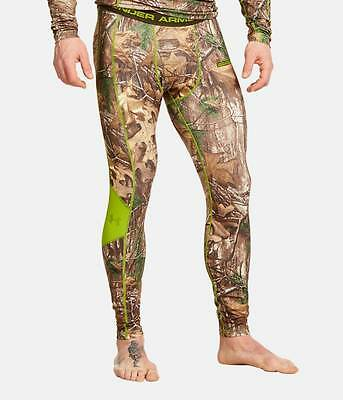 Men's UNDER ARMOUR Camo Infrared Scent Control Base Layer Compression Pants 2XL