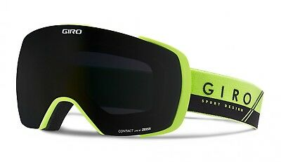 NEW Giro Contact Green Black Mens Oversized ski goggles +2 lenses 2017 Msrp$240