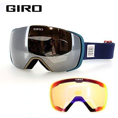 NEW Giro Contact Navy Topo Mens Oversized ski goggles +2 lenses 2017 Msrp$240