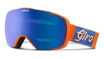 NEW Giro Contact Orange Blue Mens Oversized Spherical ski goggles 2017 Msrp$220