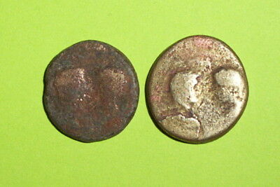 DOUBLE BUSTS Ancient ROMAN PROVINCIAL COINS 0 AD-400 AD emperor old treasure lot
