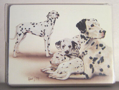 Retired DALMATIAN FAMILY Softcover Address Book art by Robert May