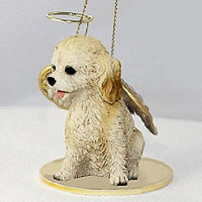 Small Angel COCKAPOO BLONDE Christmas Angel Tree Ornament