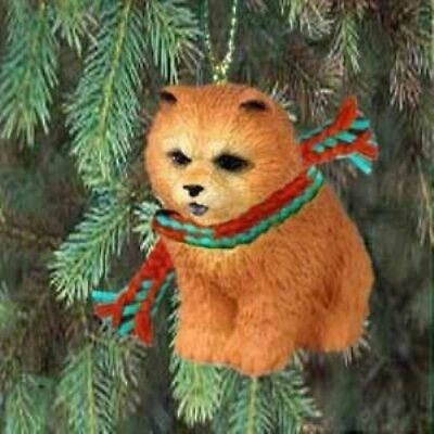 Small Resin Xmas CHOW CHOW RED Tree Ornament