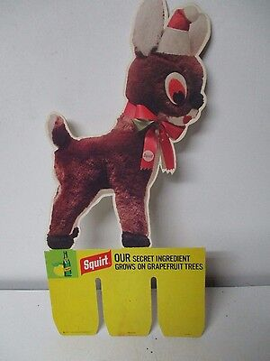 1971 SQUIRT SODA Christmas Store Display Piece