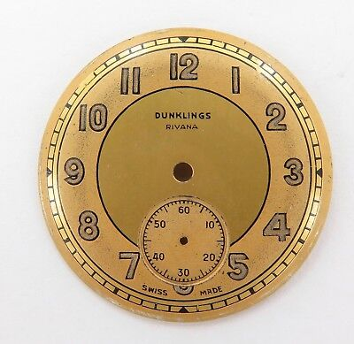 Rare / Vintage / New Old Stock Dunklings Rivana 28.3Mm Wristwatch Dial.