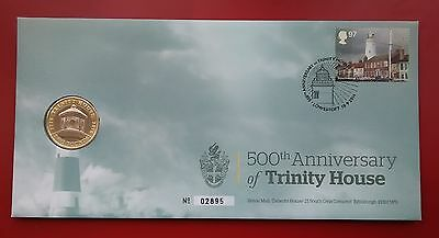 2014 TRINITY HOUSE £2 Coin Cover (UNCIRCULATED two pound) Royal Mail