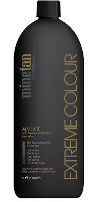 Mine Tan Professional Absolute EXTREME COLOUR 1L Solution 1hr - 15% DHA MineTan