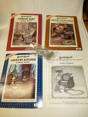 LOT Shirley Botsford Rug BRAIDERS 4 BRAID CRAFT BOOKS Braided Rug Country Baby