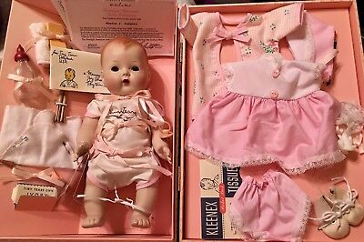 Special Edition Danbury Mint~TINY TEARS~Porcelain Doll in Case w/Accessories~COA