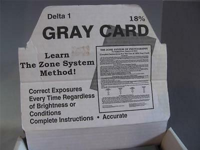 Zone 18% Gray Card The Zone System of Photography For Prints/Negatives/Slides