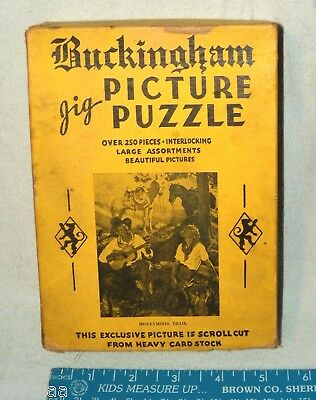 JIGSAW PUZZLE HONEYMOON TRAIL BUCKINGHAM PICTURE PUZZLE #15 VINTAGE c1930