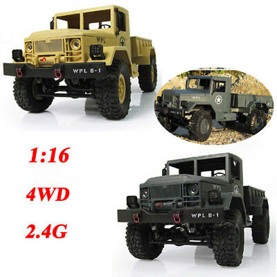 1:16 2.4G Off-Road Vehicle Military Truck 4WD Remote Control Rock Crawler Car