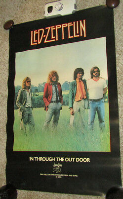 Vintage Swan Song Records Led Zeppelin In Through The Out Door Poster
