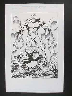 Webspinners #4 MARVEL 1999 (Original Art) Splash Page #22 by Keith Giffen!