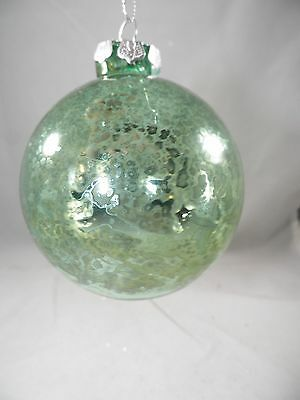 Glass Teal Ball Decorative Christmas Tree Ornament new holiday