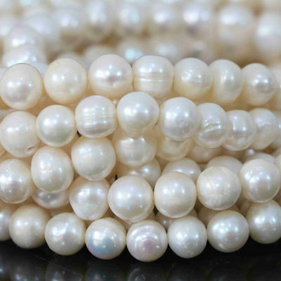 White Freshwater Natural Real Pearl Round Loose Beads 14.5'' 4/5/6/7/8/9/10/12mm