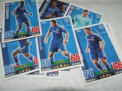15 x CHELSEA   UEFA Champions League Match Attax 2015/2016 Cards Topps Football