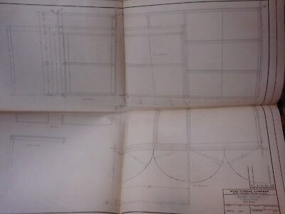 1952 technical drawing ~22x16 blueprint wall art WIND TURBINE CO West Chester PA