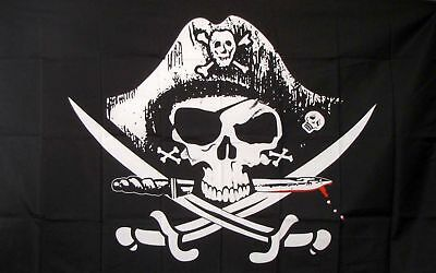 skull hat flags 3x5Feet captain knife Indoor/Outdoor cross Skeleton pirate FLAG