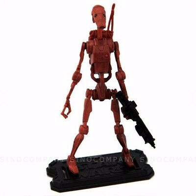 """Rare STAR WARS Legacy BATTLE DROID Aotc Geonosis Arena Tlc 3.75"""" FIGURE Collect"""