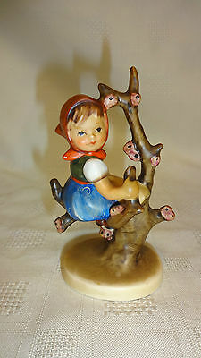 Vintage Goebel Hummel Figure Girl In Apple Tree 10cm