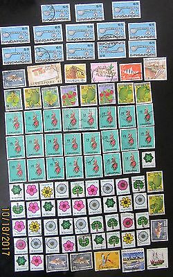 1968+ Singapore large collection up to $5 used.