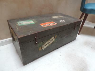 Vintage Military Travel Trunk Chest
