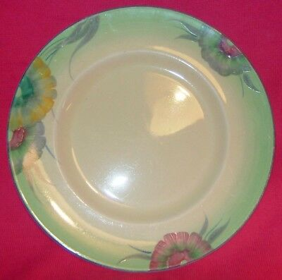 """CLARICE CLIFF: 9.0"""" d. plate, hand-painted 'VISCARIA' pattern. NR!!"""
