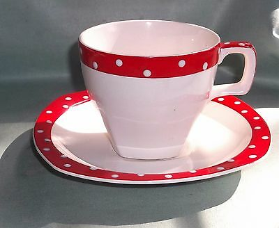 Cup & Saucer - Red Domino - Midwinter