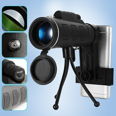 40X60 Focus Zoom Outdoor Travel Portable HD Optical Monocular Telescope + Tripod