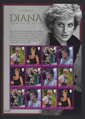 Isle Of Man 2017 Diana Princess Of Wales Limited Edition In Folder Unmounted