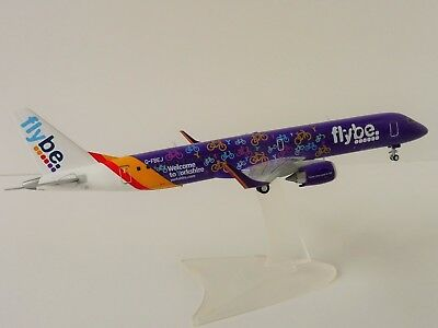 Flybe Embraer E195 1/200 Herpa 558297 195 Welcome to Yorkshire