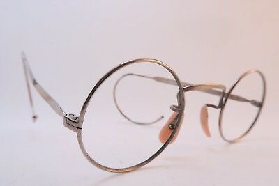 Vintage 30s eyeglasses frames steel round coil arm HADLEY made in England