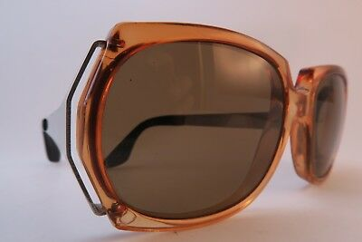 Vintage 70s sunglasses orange metal arms Edelstahl Rostfrei made in Germany