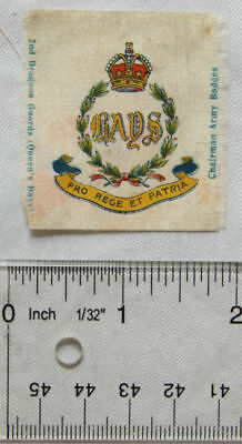 Chairman small silk Army Badges, 2nd Dragoon Guards, Queens Bays
