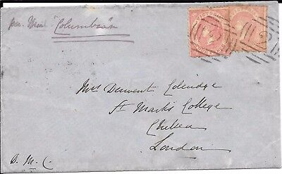 Geelong 1859 P& O 'columbian' Cover To Liverpool.