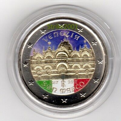 NEW !!! 2 EURO COMMEMORATIVO ITALIA 2017 Venezia San Marco COLORATO NEW !!!