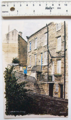 c.1987 postcard painting of Nora Batty's Cottage