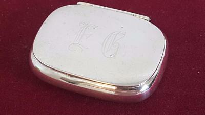 Top Quality Circa 1910-1920 American(?) Small Sterling Silver Snuff or Pill Box
