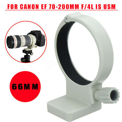 66mm Metal Tripod Mount Lens Collar Ring For Canon EF 70-200mm f/4L IS USM White