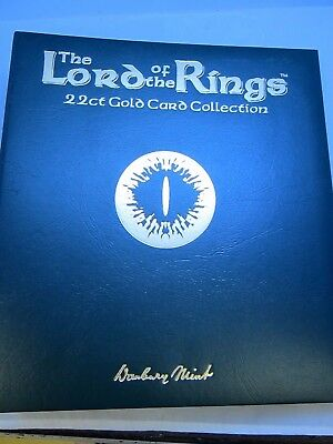 Danbury Mint - Lord of the Rings - 22ct Gold Card Collection + Binder - 24 Cards