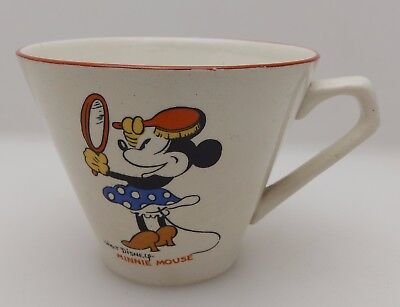 Vintage Wade Heath Walt Disney Minnie Mouse & Pluto Childs Cup