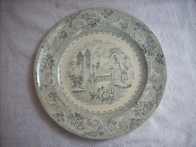"Antique British Anchor Pottery "" Rhine "" Plate"