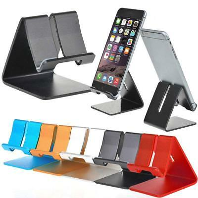 Universal Aluminum Cell Phone Desk Stand Holder for Samsung iPhone Table PC LC
