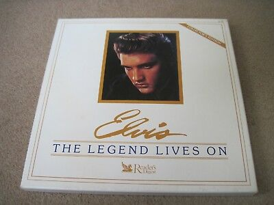 ELVIS PRESLEY The Legend Lives On & BOOK 1987 READERS DIGEST 8 LP BOX near mint