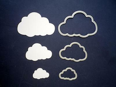 NEW Set of 3 Die Cutters for roller machines CLOUDS / card making / scrapbooking