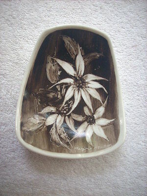 Studio Anna Shape Hand Painted Dish Signed By Artist