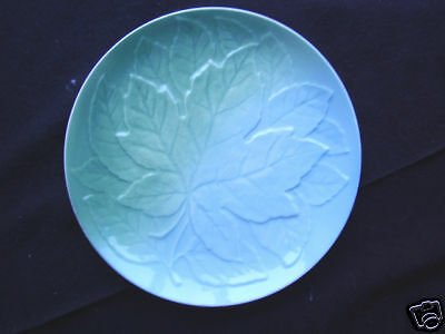 Royal Winton Pale Green And Blue Plate  Leaf Decoration