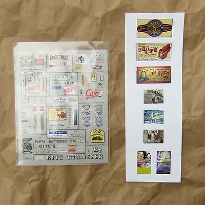 NEW ~ 70+ DRY TRANSFER DECALS by Woodland Scenics ~ N Scale Lot ~ Mayhayred